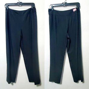 Talbots Black Wool Straight Leg Pants 6